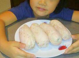 自家製ハーブ鶏ハムでサンドウィッチこどもが作る06